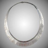 Swedish Import Mid Century Solid 835 Silver Necklace.