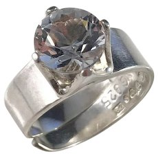 Alton Sweden year 1974, Sterling Silver Rock Crystal Ring.