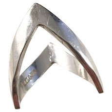 Isaac Cohen, Stockholm year 1970 Modernist Solid Silver Ring