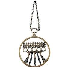 Pentti Sarpaneva Finland 1960-70s, Bronze Pendant Necklace.