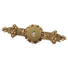 Victorian 15k Gold Diamond Brooch. Birmingham c 1860,
