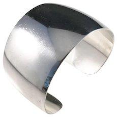 Arne Johansen, Denmark 1954-76 Sterling Silver Cuff Bracelet.