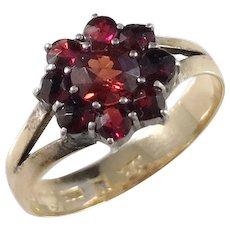 CH Forsman, Sweden year 1879, Victorian 18k Gold Garnet Ring