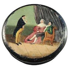 Georgian c year 1810 Lacquered Papier Mache Snuff Box