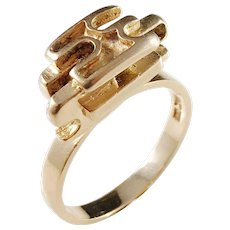 Stigbert for Heribert Engelbert, Stockholm 1973 Modernist 18k Gold Ring.