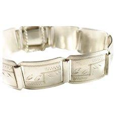 Tampereen Kultaseppä, Finland year 1935 Solid Silver Bracelet.