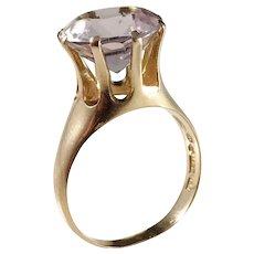 Svedbom, Sweden year 1967 Modernist 18k Gold Rose Quartz Ring.
