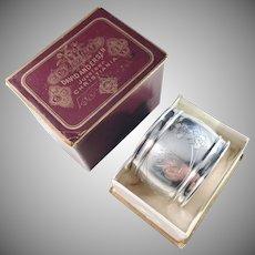 David Andersen, Norway year 1903 Solid Silver Napkin Ring in Original Box.