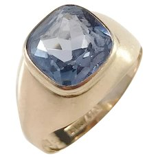 Bengt Hallberg, Sweden year 1975, 18k Gold Synthetic Spinel Ring.