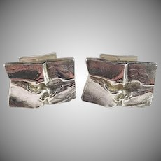 Bjorn Weckstrom for Lapponia Finland 1972 Huge Sterling Silver Cufflinks. Design Andromeda
