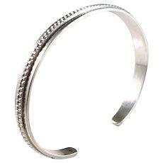 Kalevala Koru, Finland 1963, Solid Silver Open Bangle Bracelet. Excellent.