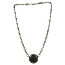Kalevala Koru, Finland Vintage Sterling Silver Spectrolite Necklace.