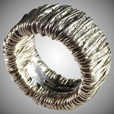 Pia RAUFF, Denmark Chunky Vintage Sterling Silver Ring.