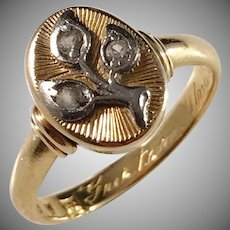 Hentzell, Sweden year 1945, 20k Gold Paste Stone Ring.
