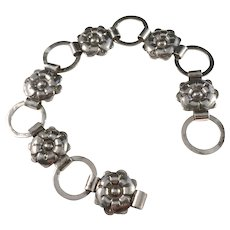 Very Rare Maker D. Serno, in Helsinki Finland year 1948 Solid Silver Bracelet.
