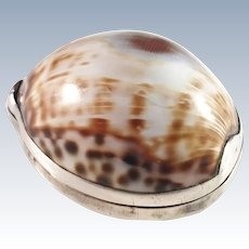 Sven Hall, Sweden year 1783-94 Georgian Solid Silver Cowrie Shell Snuff Box.