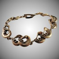 Hannu Ikonen Finland 1970s Sought After Reindeer Moss Design Bronze Bracelet.