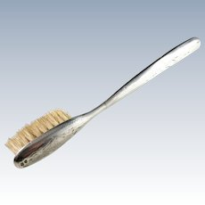 Antique Sterling Silver Moustache Brush. Sweden c 1900.