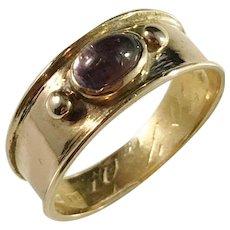 Sundström, Stockholm year 1895, Victorian 18k Gold Amethyst Ring. Size 7