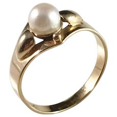 Waldemar Jonsson, Sweden year 1959, 18k Gold Cultured Pearl Ring.