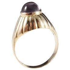 Wiktorsson, Sweden year 1956 Mid Century Modern 18k Gold Amethyst Ring. Excellent.