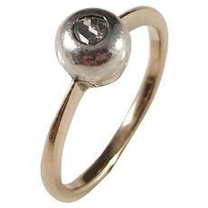 Vintage 14k Gold Rose Cut Diamond Ring.