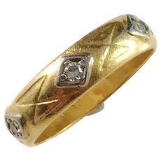 Victorian 23k Gold Diamond Ring. Sweden. Stack-ring