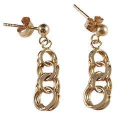 Swedish Import, Vintage 18k Gold Bismarck Earrings.