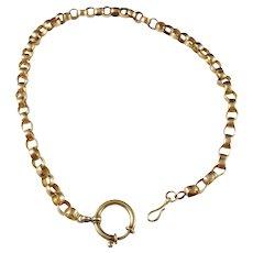 Gustaf Graumann, Sweden year 1863, Victorian 18k Gold Watch Fob Muff Chain Necklace
