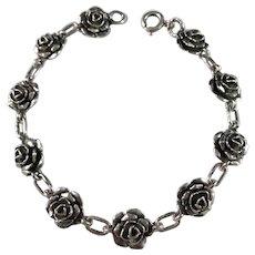 Kello Oy, Finland year 1974 Sterling Silver Rose Bracelet.