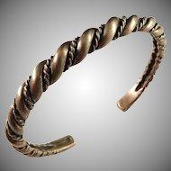 Kalevala Koru, Finland Vintage Chunky Bronze Open Bangle Bracelet.