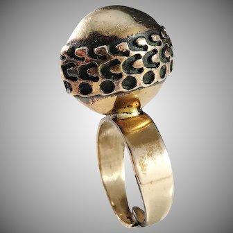 Pentti Sarpaneva Finland 1960-70s Bold Bronze Ring. Signed