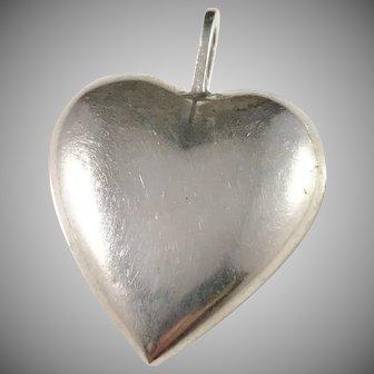 Ceson, Sweden 1970s, 830 Silver Heart Love Pendant.