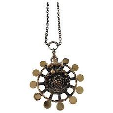 Pentti Sarpaneva Finland 1960-70s Bold Bronze Pendant Necklace.