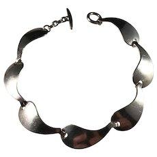 Herman Siersbøl, Denmark 1960s Sterling Silver Panel Bracelet.