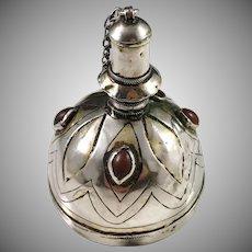 Georgian Solid Silver Amber Scent Bottle. Probably Danish Hovedvandsaeg