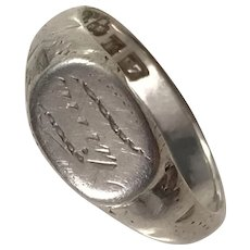 Edwardian year 1908 Charming Little Solid Silver Memory Ring