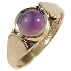 Evert Gustafsson, Sweden year 1966, 18k Gold Amethyst Ring.