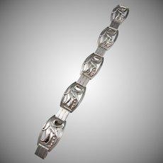 Maker R.R. Denmark Vintage 830 Silver Bracelet. Design no 147.