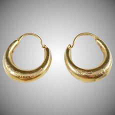 Carl Jonson, Sweden year 1879, Victorian 18k Gold Earrings.
