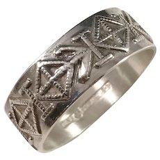 Helsingin Koruvalmiste, Finland year 1970 Modernist Sterling Silver Mens Ring. Size 11