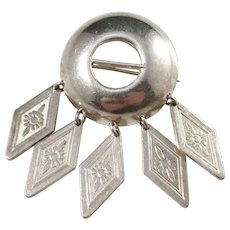 Sporrong, Sweden year 1945 Traditional Solid Silver Brooch