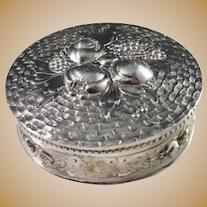 Germany c year 1900 Art Nouveau Large 800 Silver Trinket Jewelry Box