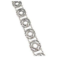 Matsilver, Sweden year 1947 Mid Century Sterling Silver Bracelet.