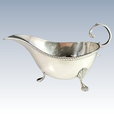 Asprey & Co Ltd Antique Sterling Silver Sauce Boat