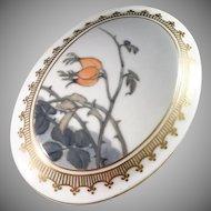 Royal Copenhagen pre 1923 Art Nouveau Painted Porcelain Lidded Bowl Casket. Excellent.