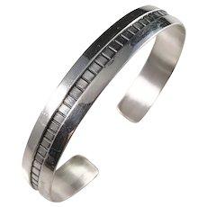 Kalevala Koru, Finland year 1964 Solid Silver Open Bangle Bracelet.