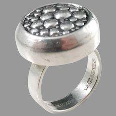 Erik Granit , Finland year 1966 Modernist Solid Silver Ring