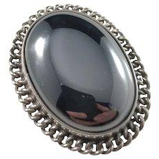 Gdansk, Poland Vintage Sterling Silver Hematite Ring.