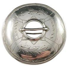 Johan Ferdinand Henriksson, Finland year 1929 Solid Silver Shield Brooch